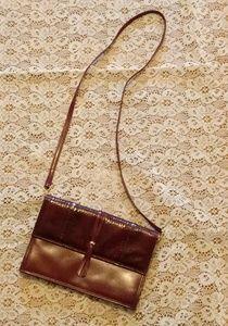 Vintage Leather & Snakeskin Bag Made in Hong Kong